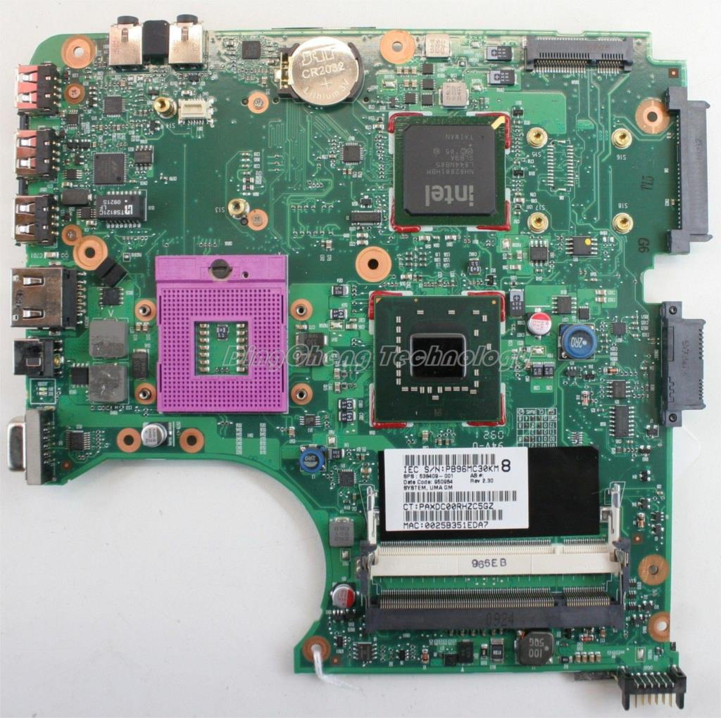 45 days Warranty  laptop Motherboard for hp CQ510 notebook mainboard , 538409-001 ISKAA L2S Paypal Accepted