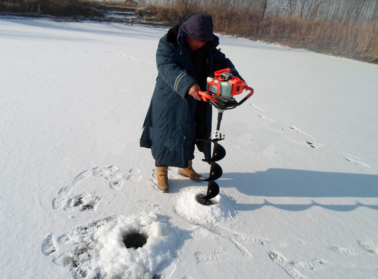 Professional 52CC Ground Drill Gas powered Ice auger digging hole бур для льда ada 150х1000мм ice drill а00276