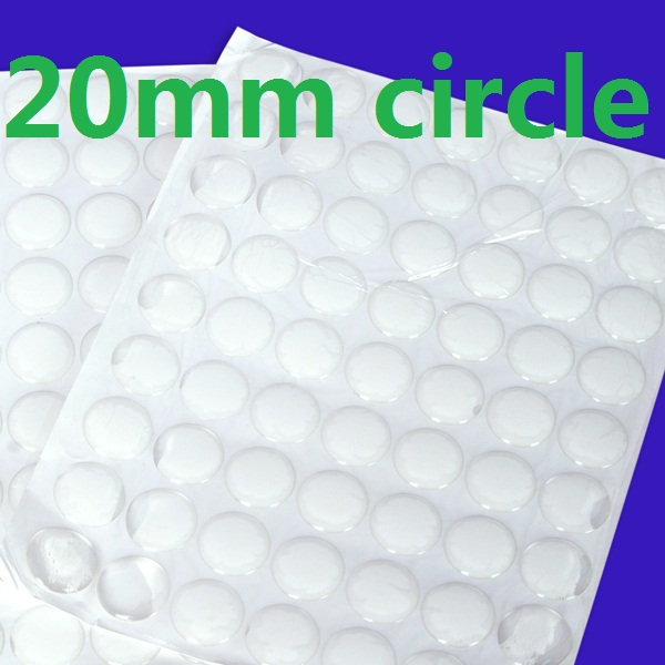 Clear epoxy stickers for bottlecaps necklace epoxy dots epoxy dome 3d circle self adhesive 20mm