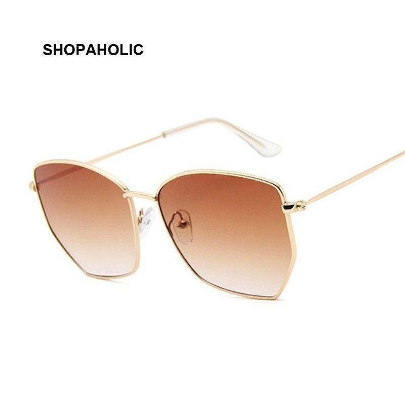 Frauen Cat Eye Sonnenbrille Nette Sexy Marke Designer Sommer Retro Übergroßen Rahmen Schwarz Gelb Cateye Sonnenbrille Weibliche