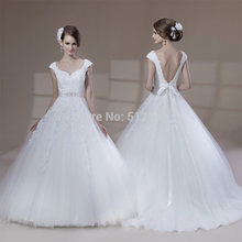 Charming Backless Wedding Dresses Lace A Line Sweetheart Applique Beads Pearls 2015 Bridal Gown yk1A243
