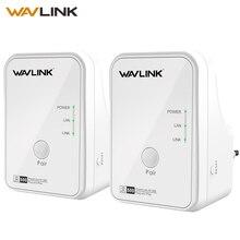 Wavlink 1 пара 500 Мбит/с сетевой адаптер питания Ethernet PLC Адаптер Комплект Homeplug AV Plug and Play IPTV линия питания AV500 EU/US