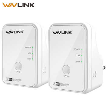 Wavlink 1Pair 500Mbps Power line Network Adapter Ethernet PLC adapter Kit Homeplug AV Plug and Play IPTV Powerline AV500 EU/US - DISCOUNT ITEM  30% OFF All Category