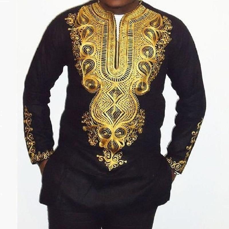 LinkShow Mens Fashion African Trible Dashiki Short Sleeve Crewneck T-Shirt Top