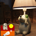 Children Room Animal Cartoon Led Desk Lamp E14 110V-220V Switch Button Desktop Lamp High Quality Kids Desk Lamp