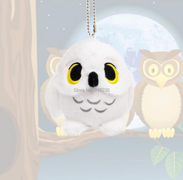Snowy White Owl 9CM Presentes Pingente Chaveiro Boneca de Pelúcia Macia Brinquedos de Pelúcia PCXB