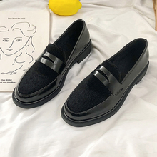 Moxxy 2019 Spring New Women Flats Shoes Platform Sneakers Shoes PU Leather Casual Shoes Slip on Flats Creeper Luxury Woman Shoes цена и фото