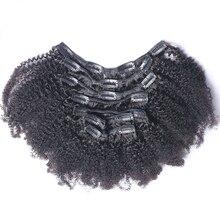 Dlme двойной утка афро странный вьющиеся клип в волос Nautral Цвет полной головки 7 шт высокое Температура не линять Синтетический