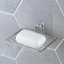 Серебряный Ванная комната вакуумный паста мыло держатель чашки коробочка, мыльница мыло для хранения заставки душевая лоток Аксессуары для ванной комнаты