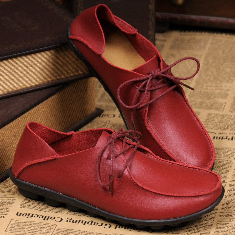 2015  new spring women flats shoes Genuine leather casual single shoes flat heel loafers gommini cow muscle shoes plus size flat shoes women pu leather women s loafers 2016 spring summer new ladies shoes flats womens mocassin plus size jan6