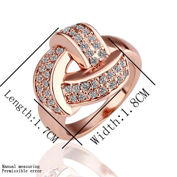 Clical 18k Rose Gold Plated Women Elegant Wedding Rings Genuine Austrian Crystal Fashion Costume Jewelry