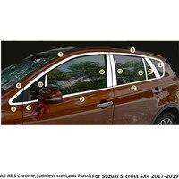 For Suzuki S cross scross SX4 2017 2018 2019 Car styling stainless steel glass window garnish pillar middle column trim stick