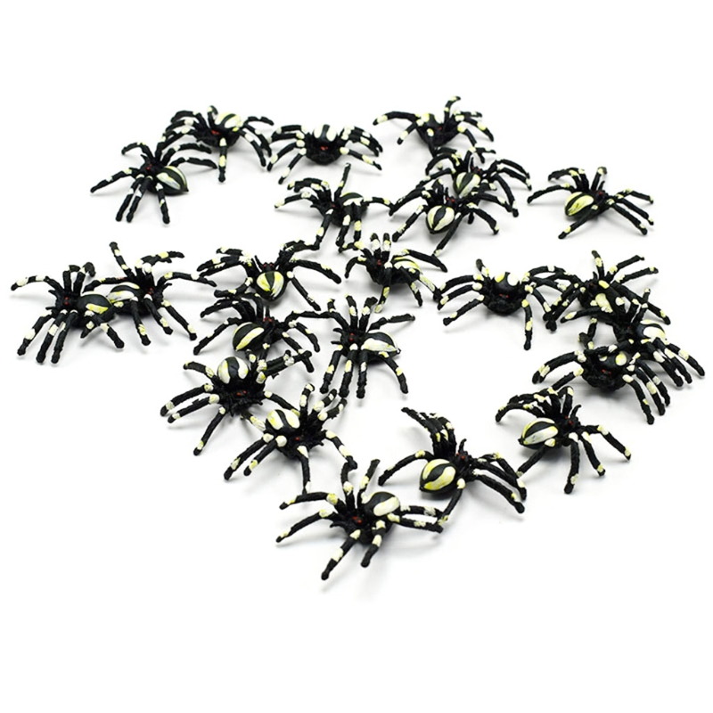 New 5PCS Small Scary Spiders Halloween Party Props Decoration Horror Joke Toy 'lrz