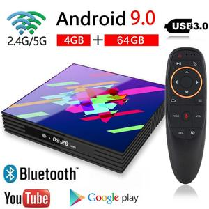 Image 1 - A95X Z2 PLUS Android TV Box Rockchip3318 4GB 64GB 2.4/5.0G Dual  BT WiFi 4K Google Play Youtube Smart TV Box Android 9.0 Z2PLUS