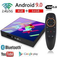 Android TV Box Rockchip 4GB 64GB 2.4/5.0G Dual BT WiFi 4K Google Play Youtube IPTV Smart TV Box Android 9.0 PK H96MAX RK3318