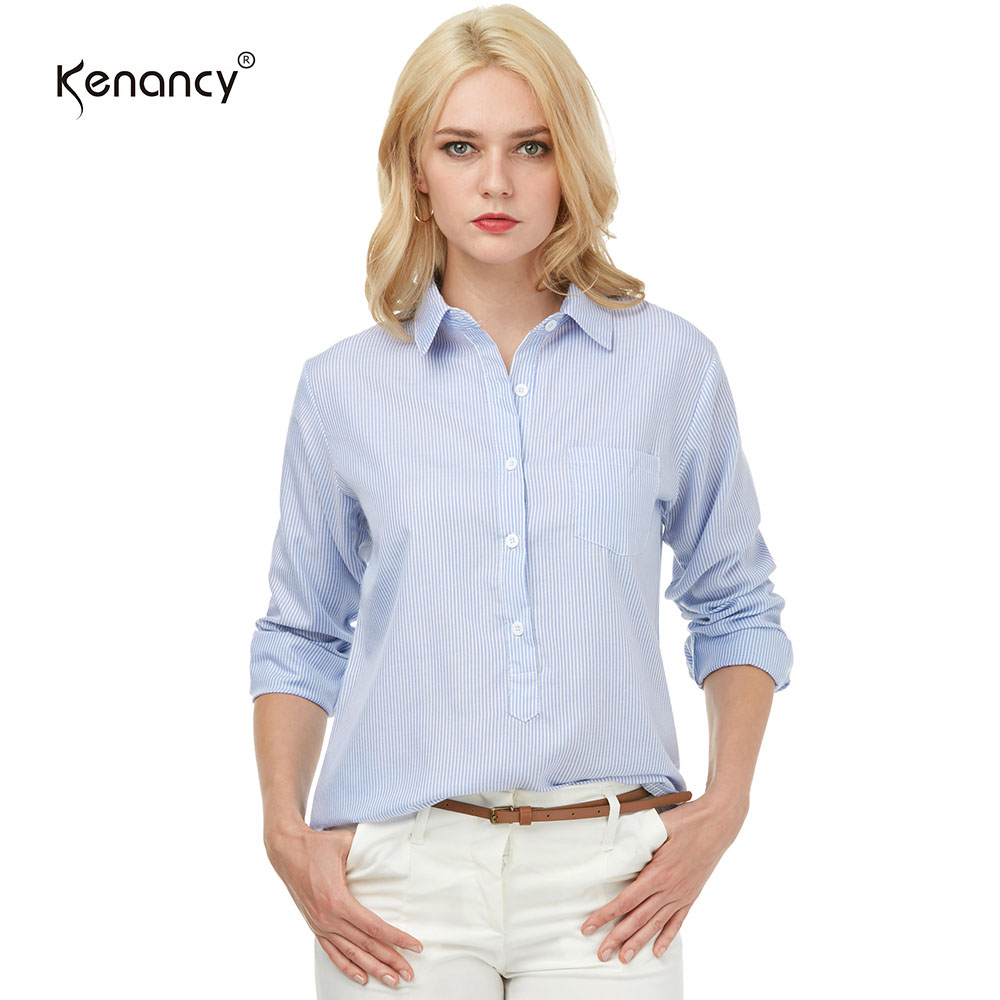 Compare Prices on Womens Pinstripe Blouse- Online Shopping/Buy Low ...