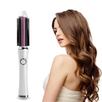 High Quality Wireless Hair Curling Iron Sticks Micro USB Rechargeable Curly Hairs Comb Curler Styler Roller
