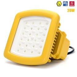 ATEX UL IECEx светодиодный свет 20 W Светодиодный Освещение опасной зоны AC100V-277V UL DLC светодиодный взрывозащищённый светильник