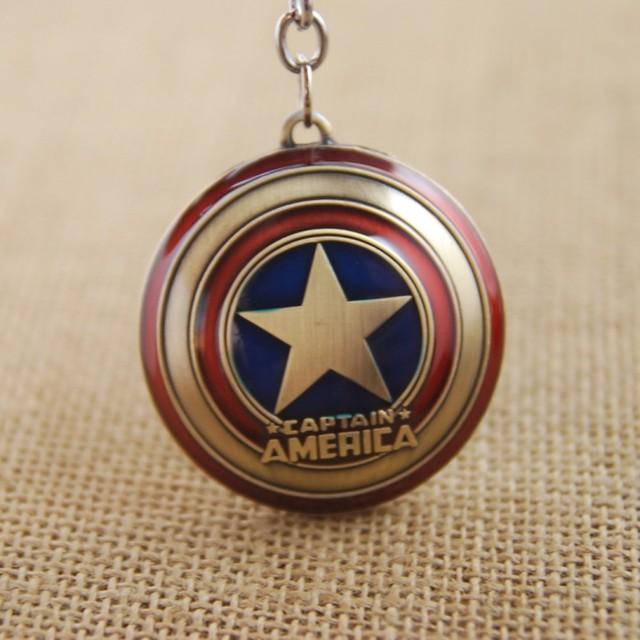 Marvel Captain America Shield Keychain (2 Colors)  5