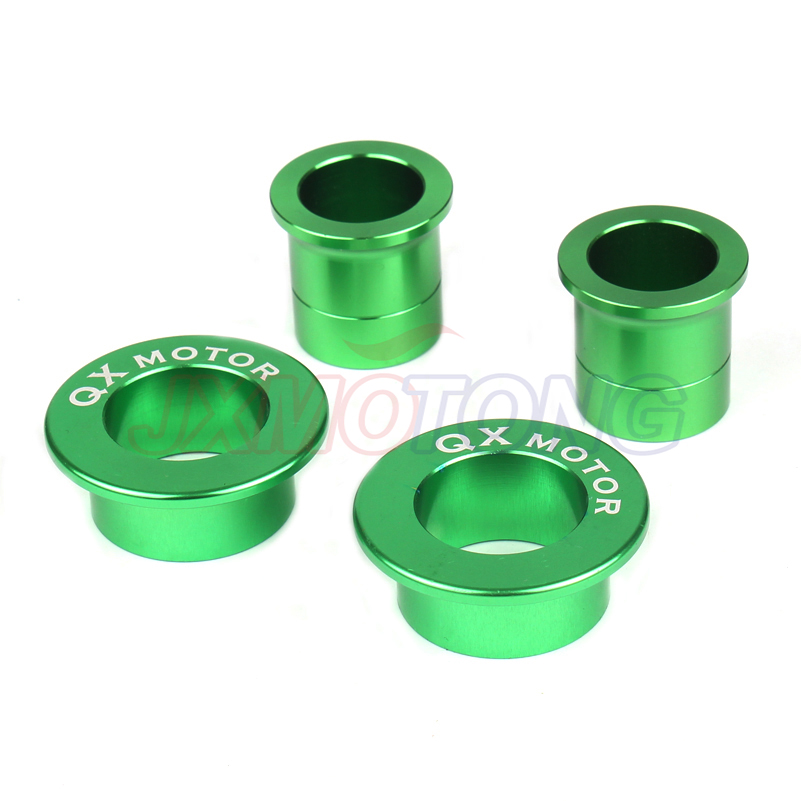 Attent Nieuwe Cnc Billet Aluminium Front & Rear Wheel Hub Spacers Voor Kx125 Kx250 Kxf250 Kxf450 Motorfiets Motorcross Dirt Bike Off Road