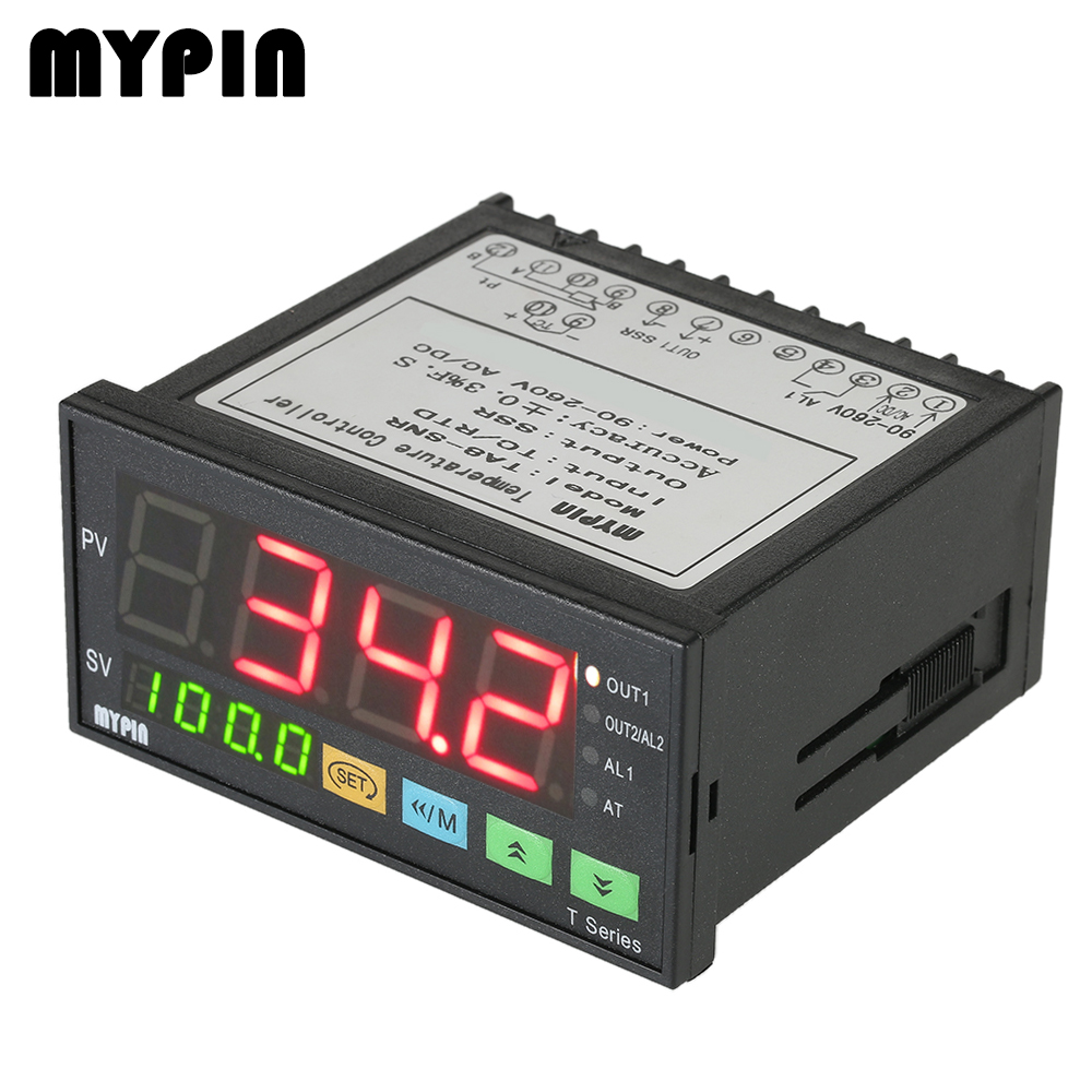 US $23 0 50% OFF|MYPIN thermometer Intelligent thermal regulator  Temperature Controller 4 Digital Thermostat PID Control TC/RTD Input SSR  Output-in