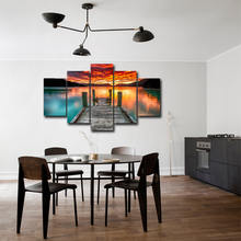 Canvas HD Prints Pictures Modern Wall Art Framework 5 Pieces Lake View Paintings Poster Home Decor Abooly