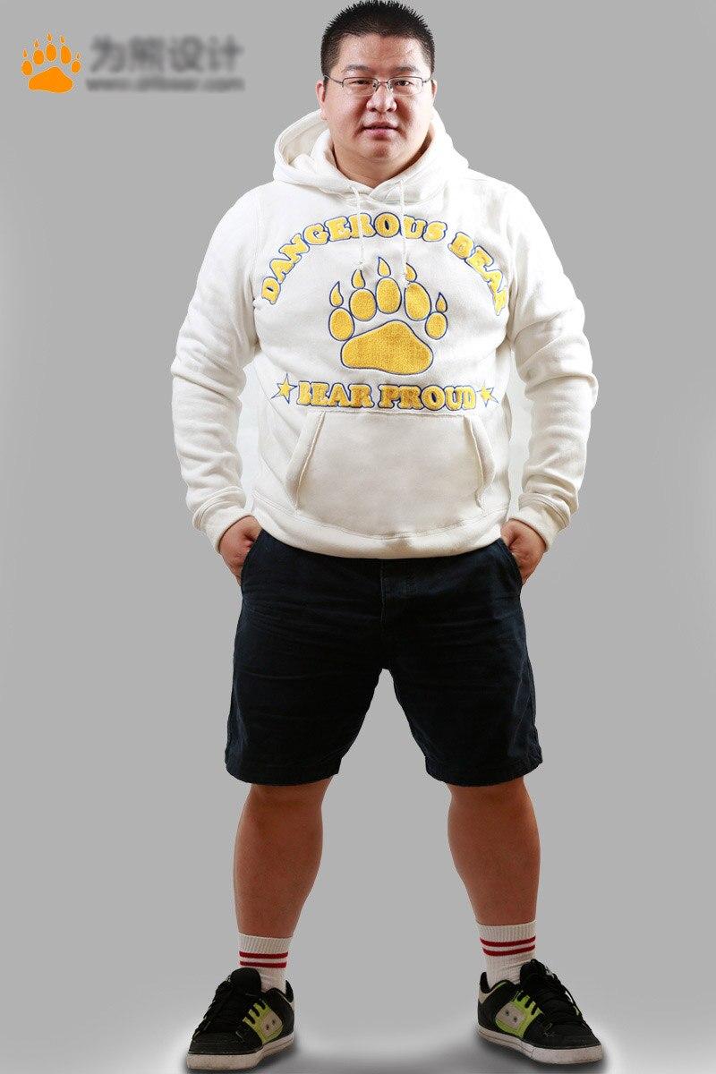 Bear Paw Claw Hoodies Men's Autumn Winter Tracksuits Fleece Man Coat Gay Bear Coats Jackets Hooded Sweatshirts Gray/White M L XL