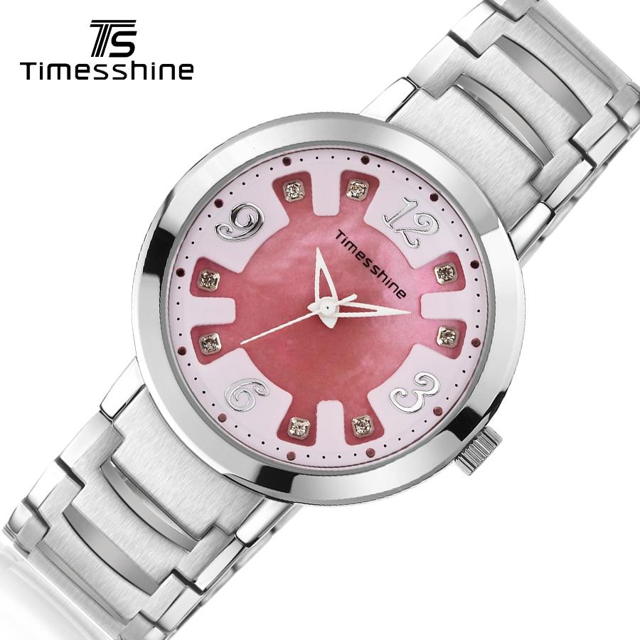 Timesshine Women Watch Quartz Watch Stainless Steel Ladies Watches Waterproof High Quality Diamond Japanese Movement Watches