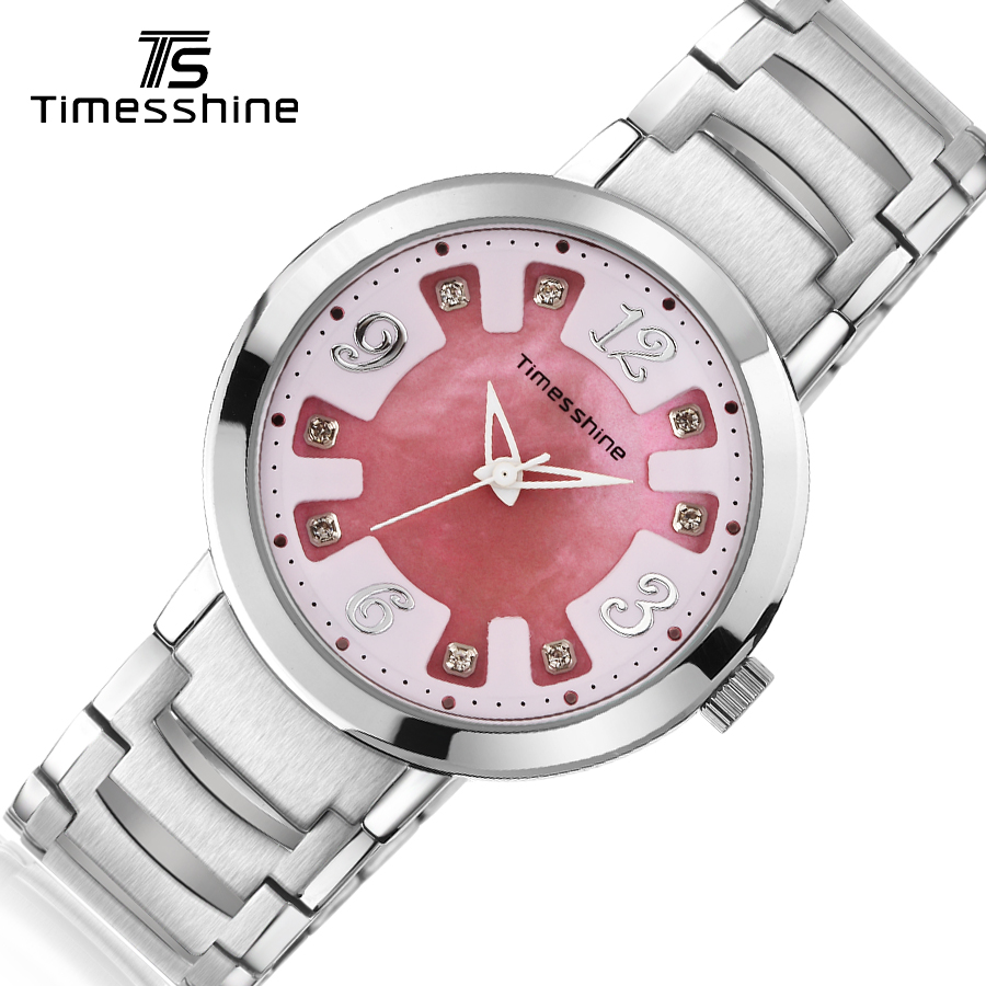 Timesshine women watch Quartz Watch Stainless steel Ladies Watches Waterproof High Quality Diamond Japanese movement Watches rechargeable facial massage cleanser
