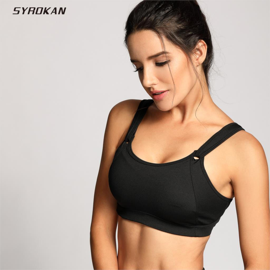 SYROKAN Women's High Impact Full Coverage Non Padded Wire Free Run Sports Bra