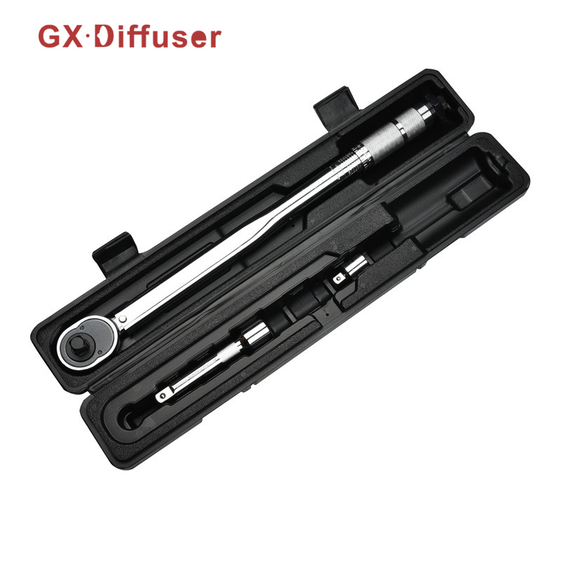 GX Diffuser 1/4 3/8 Drive Torque Wrench Capri Tools W/Case Foot Pound Drive Click Adjustable Hand Spanner Ratchet Wrench Tool 1 4 drive torque wrench capri tools w case foot pound 5 25nm drive click adjustable hand spanner ratchet wrench tool