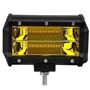 Image 2 - ערפל אור 2 Pcs צהוב Led בר נהיגה מנורת Offroad עבודה אור בר עמיד למים IP67 עבור Jeep טרקטורונים רכב SUV אופנוע משאית 12V/24V