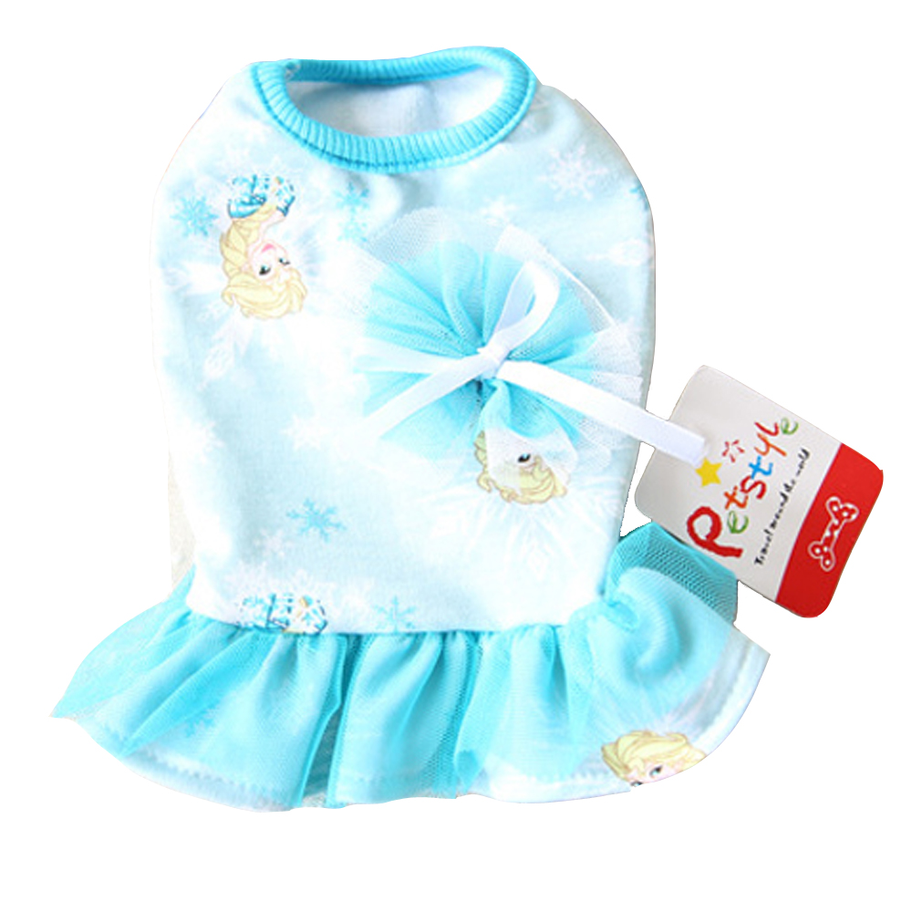 Cartoon Lace Dresses Girls Clothes for Dogs Cat Wear Products suit for small dogs Pets 5 sizes