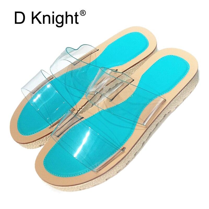 Летние пикантные прозрачные Для женщин ПВХ дизайнер обуви ясно на низком каблуке тапочки шлепанцы с открытым носком цвет: желтый, белый на п...