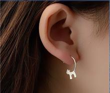 New Fashion jewelry accessories Silver Lovely Cat Earrings best gift for women girl wholesale E076