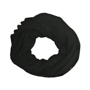 Image 4 - Leo anvi foulard en mousseline de soie pour femmes, couvre chef, bandana en dentelle, pour femmes, hijab musulman