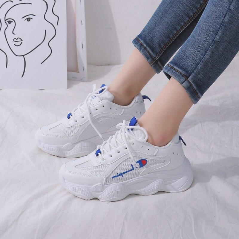 Coréenne Marée Petite Chaussures Nouveau Version Beige Printemps Femme 2019 Chic Ins Blanches white Fond Épais Casual Vieux De Sauvages vOmN08nw
