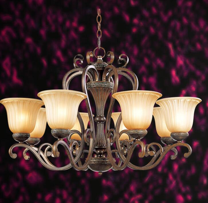 Multiple Chandelier bedroom lamp restaurant lamp rustic lamps american lighting wrought iron+glass 3/5/6/8heads lamps ZX123  pendant light fashion 5 lamps rustic vintage lamp restaurant lamp wrought iron modern lighting bedroom lamp