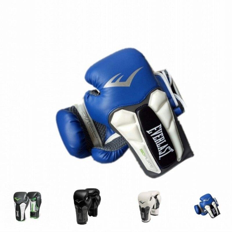 Alta qualidade adultos mulheres/homens luvas de boxe couro mma muay thai boxer de luva luvas sanda equipments8 10 12 14 16 oz boks
