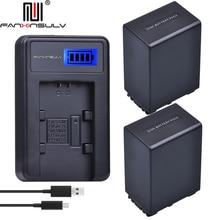 2x 4500 mAh NP-FV100 NP FV100 battery + LCD USB Charger For SONY NP-FV30 NP-FV50 NP-FV70 SX83E SX63E FDR-AX100E DCR-SR68E PJ820E