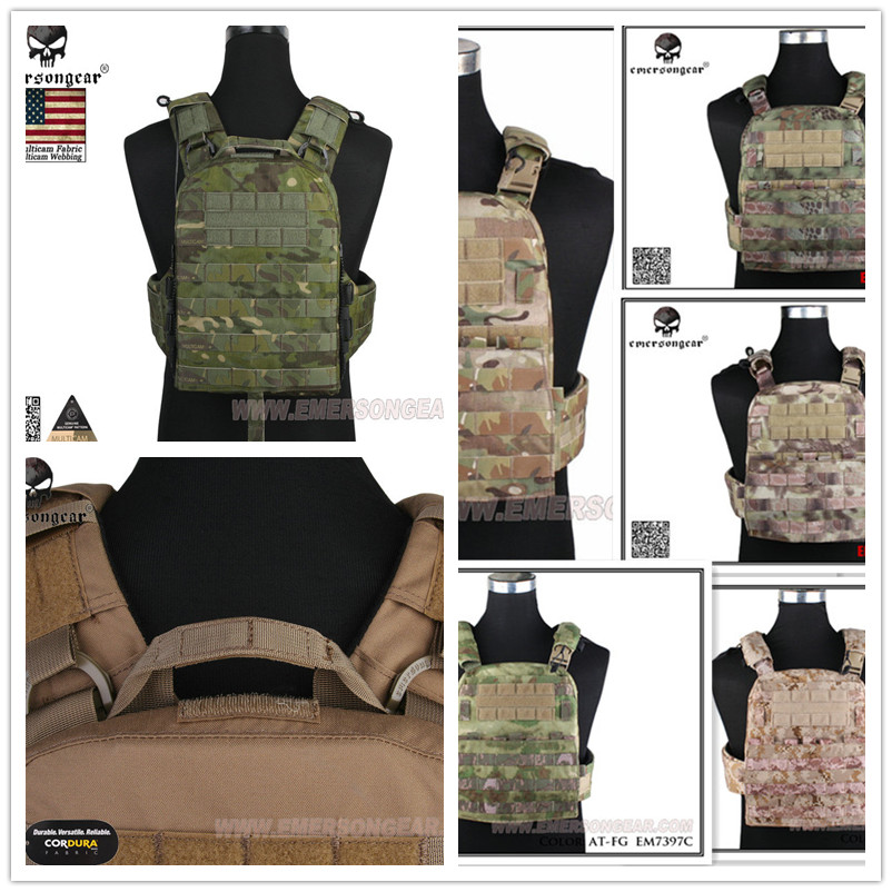 Hunting Genuine Multicam Fabric AVS Vest EMERSON CP Style Adaptive Vest Heavy Version Airsoft EM7397 CB BLACK AOR2 MCBK MCTP