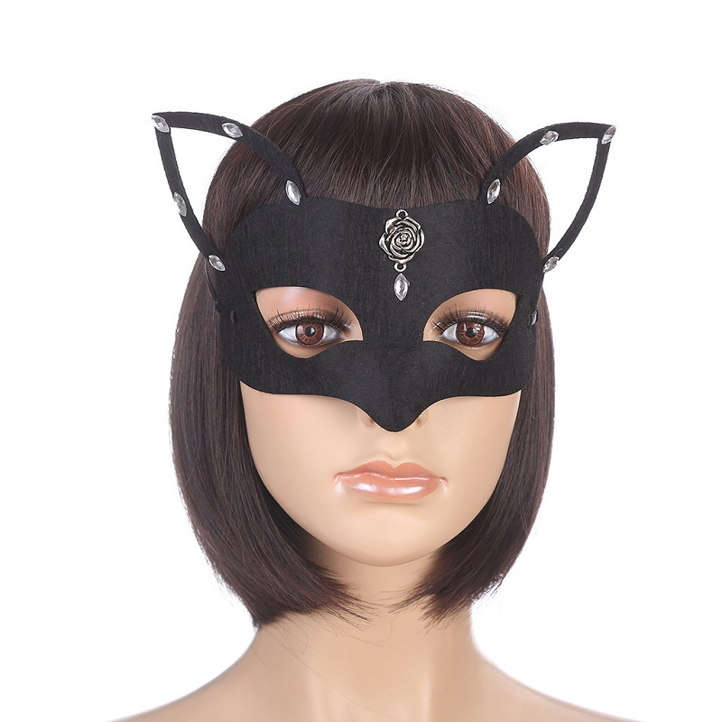 Web celebrity host accessories for black fox's Christmas party mask image