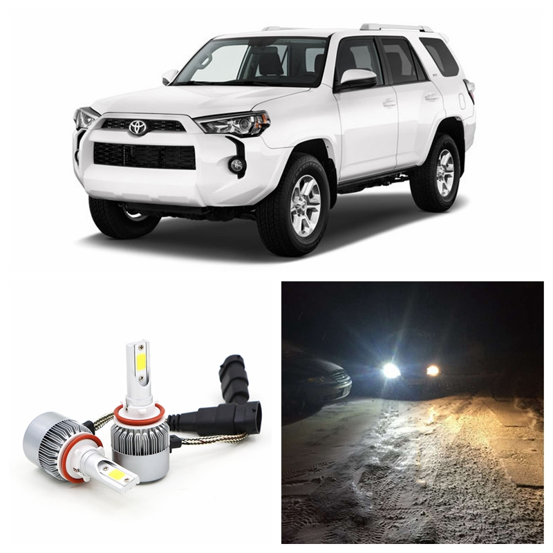 Edislight High Power 72W 7600LM White Car Light  Bulbs Low Beam LED Headlight For 2006-2016 Toyota 4Runner COB Headlamp 6000K tube amplifier hifi shuguang kt100 2 x 15w dual mono block integrated single ended russian 6h1 preamp usa 6ak5 driving amplifier