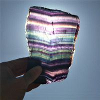large colorful fluorite plate beautiful fluorite slice specimen natural stones and minerals crystal fluorite as gift multicolor