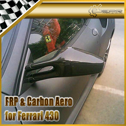 Car-styling For Ferrari F430 Scuderia Style Carbon Fiber Mirror Frame With Base