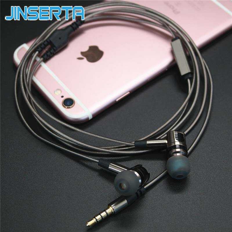 JINSERTA Detachable Earphone Sport In-Ear Headset With Microphone Earbuds Sweat proof Stereo Super Bass Headset for mobile phone new guitar shape r9030 bluetooth stereo earphone in ear long standby headset headphone with microphone earbuds for smartphones