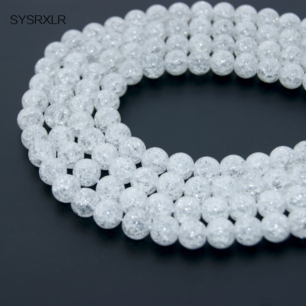 Beads & Jewelry Making Jewelry & Accessories Hospitable Pick Size 4/6/8/10/12 Mm Natural Loose Snow Cracked Round White Crystal Quartz Rock Spacer Beads For Jewelry Diy Bracelet