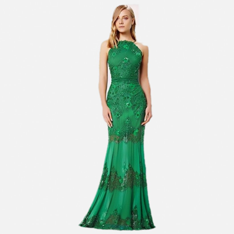 2018 New Arrival Women Fashion Formal Mint Emerald Green With Crystals For Prom Gown Abendkleider To Party   bridesmaid     Dresses
