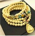 Thailand amulet beaded multilayer bracelet mascot jewelry tibetan buddhist prayer beads