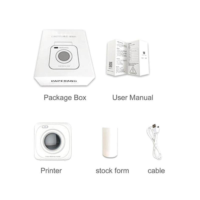 Mini Portable Wireless Bluetooth Printer Thermal For Phone 4